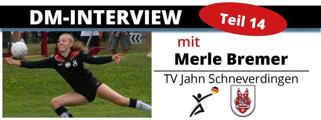 DM-Interview 14: Merle Bremer (TV Jahn Schneverdingen)